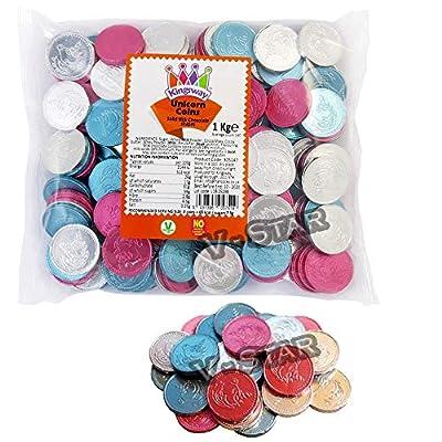kingsway pastel chocolate unicorn coins - 1kg bag approx 140 pcs, unicoin Kingsway Pastel Chocolate Unicorn Coins – 1kg Bag Approx 140 Pcs, UNICOIN 51rU5GEsU9L
