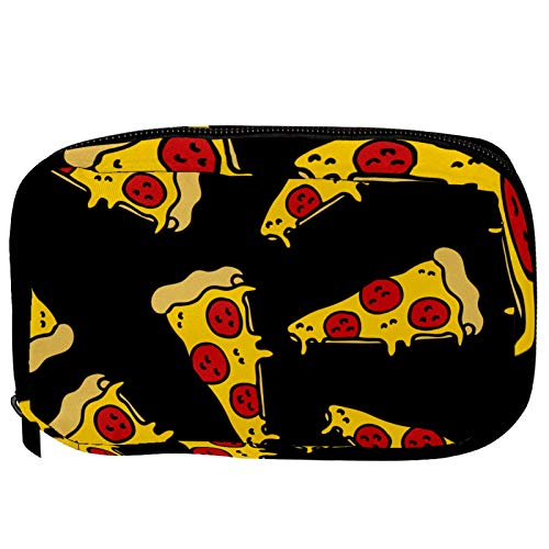 Neceser de Maquillaje Estuche Escolar para Cosméticos Bolsa de Aseo Grande Pizza de Queso