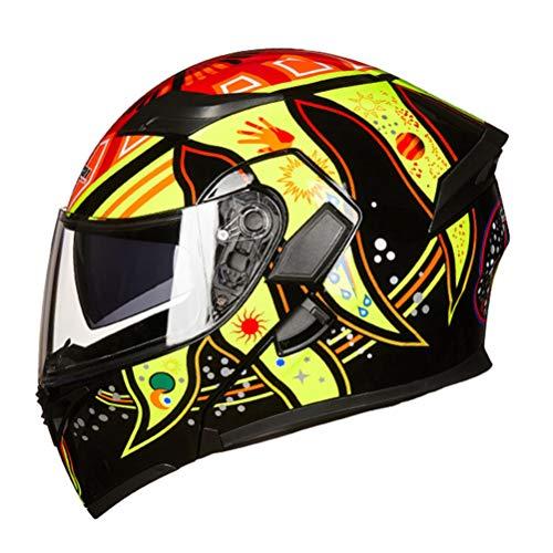 Off-Road Moto Motocicleta Casquillo abatible Unisex Adultos