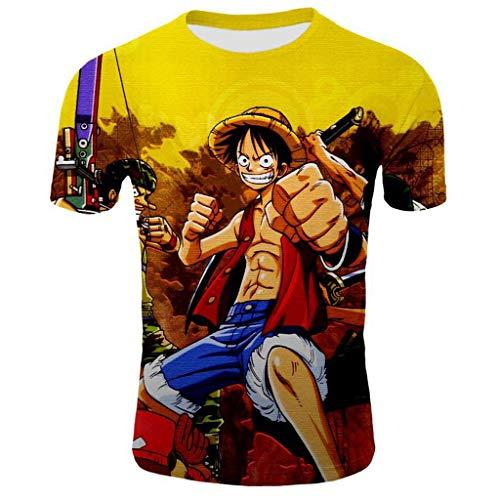 Anime 3D digitaal bedrukt T-shirt rolkraagpullover top ronde hals casual shirt Holiday jas paar dragen
