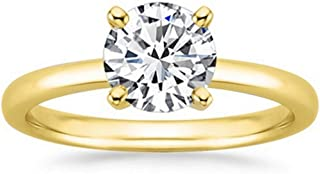 18K White Gold 4-Prong Round Cut Solitaire Diamond Engagement Ring (3.07 Carat G-H Color I2 Clarity)