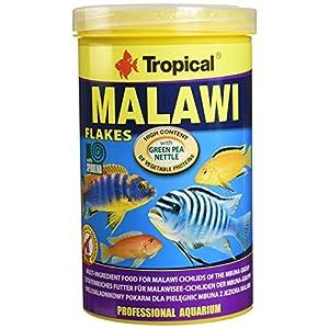 Tropical Malawi Mbuna Cichlids special flake vegetable high-protein fish food for daily feeding – 1000ml / 200g