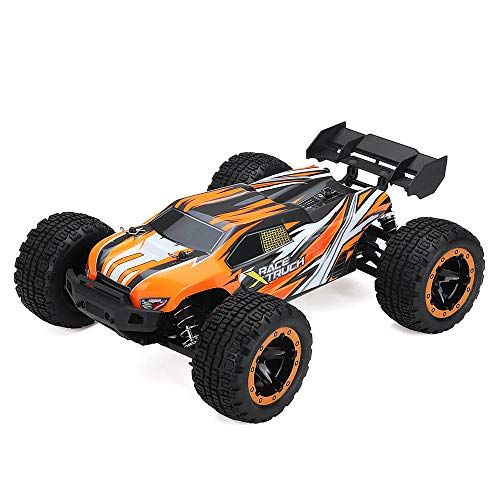 RONSHIN SG1602 1/16 2.4G 30KM/H Brush Simulation Large Caster Leather Grip RC Car Big Foot High Speed Vehicle Models with LED Lights Orange