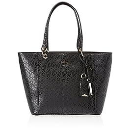 Guess Hwgs6691230, Kamryn Glassy-Look Sac Cabas Femme, Noir, 15×26.5×42 cm (W x H x L)