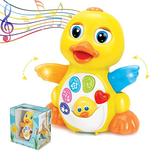 ToyThrill Duck Toy - Musical Baby Toys for 1 Year Old Girl & Boy, Babies, Infant or toddler - Music, Light Up & Dancing Modes, 6 Singing Musical Songs - Awesome Baby Shower Gift (Yellow)