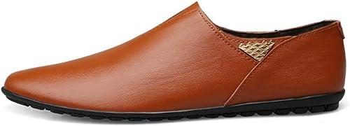 XHD-Chaussures Chaussures Homme - Mocassins en Cuir véritable (Couleur (Couleur   Warm rouge marron, Taille   40 EU)  mieux acheter