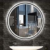 L&ED Espejo de Pared Grande, Espejo de baño LED Iluminado, Marco de aleación...