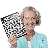 Royal Bingo Supplies EZ Readers Large-Format 8.5' x 11' Bingo Cards with Jumbo 1-inch Numbers (Pack of 50)