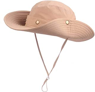 EINSKEY Sun Hat for Men/Women, Outdoor Sun Protection Wide Brim Bucket Hat Breathable Packable Boonie Cap for Safari Fishi...