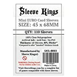 Sleeve Kings Mini Euro Card Sleeves (45x68mm) - 110 Pack, 60 Microns