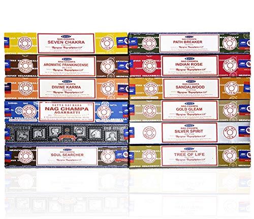 Satya Räucherstäbchen, 15 g x 12 Packungen Limitierte Auflage