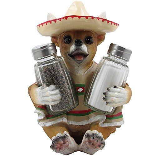 Chihuahua Glass Salt and Pepper Shaker Set