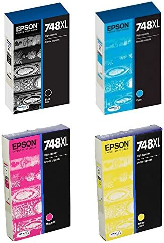 Epson748 High Capacity 低価格化 Ink Cartridge Color Complete Set オープニング 大放出セール