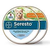 Seresto 2-Pack Flea and Tick Collar for Cats, 8-month Cat Flea Collars