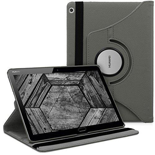 kwmobile Schutzhülle kompatibel mit Huawei MediaPad M3 Lite 10 - Hülle 360° Tablet Cover Hülle Grau