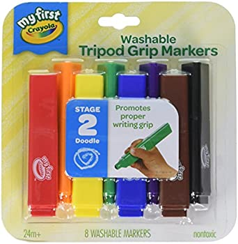 Crayola My First Tripod Washable Markers for Toddlers