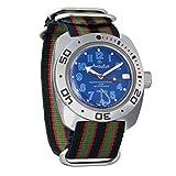 Vostok Amphibian Scuba Dude Diver AUTO Mens Wristwatch Military Amphibia Ministry Case Wrist Watch #710382 (Multicolor)