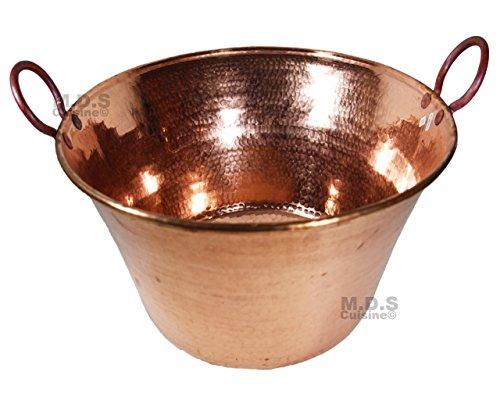 Cazo De Cobre Para Carnitas Large 18' Heavy Duty Gauge Copper Cazo Hand Mammeded Made in Mexico 100% Copper Wok