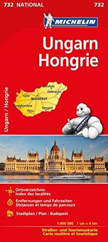 Michelin Ungarn: Straßen- und Tourismuskarte (MICHELIN Nationalkarten)