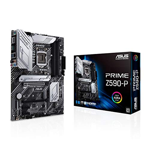 ASUS Prime Z590-P LGA 1200 (Intel 11th/10th Gen) ATXマザーボード (PCIe 4.0、10+1パワーステージ、3X M...