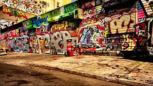 Legpuzzels 1000 tablettenGraffiti op de deur van de straatwinkel 75x210CM natuurlijk landschap beroemdheid schilderij decoratie interieur