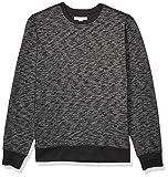 Amazon Essentials Crewneck Fleece Sweatshirt Athletic-Sweatshirts, Charcoal Space-Dye, US L (EU L)