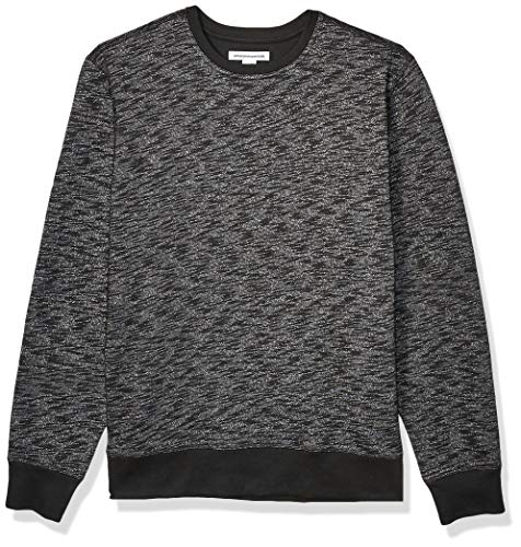 Amazon Essentials Men's Long-Sleeve Crewneck Fleece Sweatshirt, Charcoal Space-Dye XX-Large