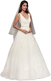 Sample: As-is Mikado V-Neck Ball Gown Wedding Dress Style AI10012632
