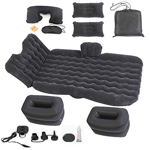 Onirii Inflatable Car Air Mattress Bed with Back Seat Pump Portable Travel,Camping,Vacation,Sleeping Blow-Up Pad fits SUV,RV,Truck,Minivan/Compact Twin Size