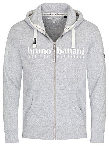 bruno banani Hoodie Sweatjacke/Kapuzenjacke mit Reißverschluss für Herren in grau, Größe XL