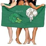 AlineAline Un vegano brócoli Horror Life Toallas de playa Ultra Absorbente Toalla de baño de microfibra Picnic Mat para hombres mujeres niños