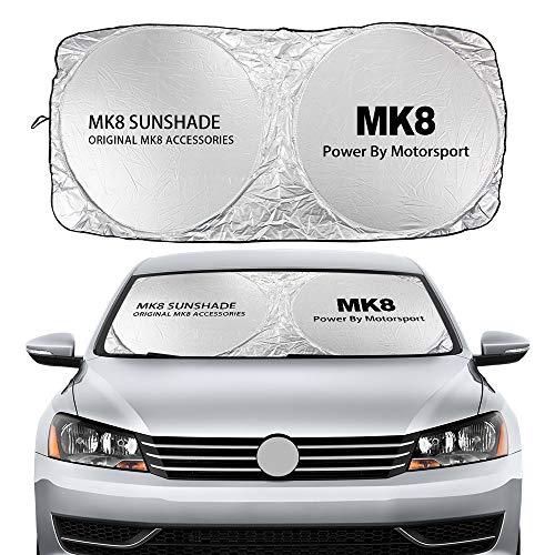 parasole auto volkswagen Parasole per auto Compatibile con Volkswagen VW Golf 4 5 6 7 MK2 MK3 MK4 MK5 MK6 MK7 MK8 Auto Parabrezza Parabrezza Coperture Auto Finestra frontale Visiere Accessori Parasole ( Color : For MK8 )