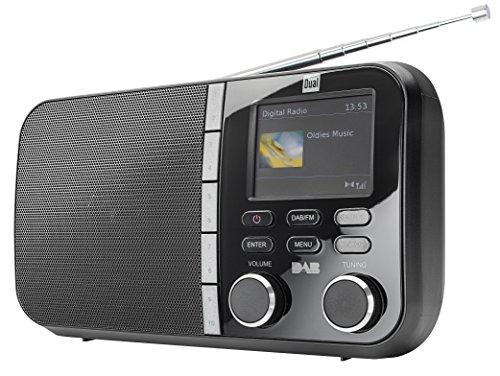 Dual DAB 4 C Digitalradio (UKW-/DAB(+)-Tuner, Sendespeicherfunktion, 6,1 cm (2,4 Zoll) TFT-Farbdisplay, Kopfhöreranschluss) schwarz