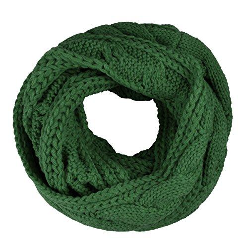 Butterme Automne Hiver Chaud Couleur Unie Echarpe Tube tricoté Tails Forme Infinity Cercle Echarpe Chale Écharpe Tubulaire pour Femme Homme