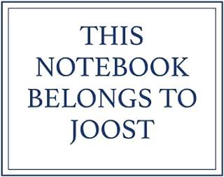 This Notebook Belongs to Joost
