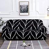 WXQY Funda de sofá de Estilo Bohemio Funda de sofá de Sala de Estar elástica de algodón Puro Funda de sofá Individual sillón Chaise Longue A23 2 plazas