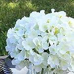 enova home artificial hydrangea silk flowers arrangements in cube glass vase for home wedding decoration