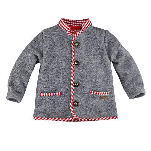 BONDI Fleecejacke ´Gipfelheld´, Grey-Melange 98 Tracht Baby Jungs Artikel-Nr.91213