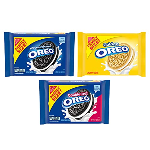 OREO Original, Double Stuff & Golden Sandwich Cookies Variety Pack, Family Size, 3 Packs