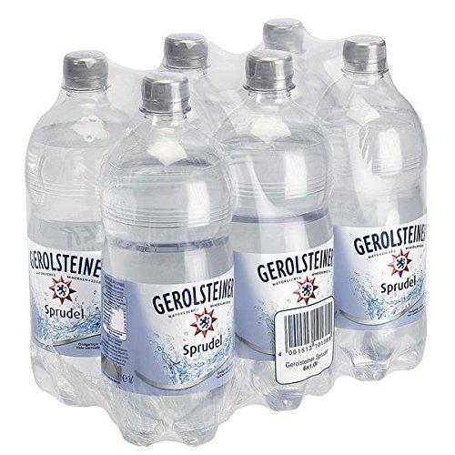 Gerolsteiner Sprudel Natürliches Mineralwasser 6 x 1 Liter inkl. 1,50 € Pfand