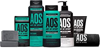 Art of Sport Total Routine Kit, 7pc Men's Body Care Gift Set with Aluminum-Free Deodorant, Charcoal Body Wa...