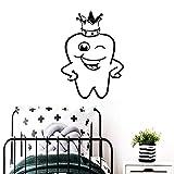 Tianpengyuanshuai Hermosos Dientes Vinilo Impermeable baño Papel Pintado Comercial Dental Creativo stickers-33X45cm