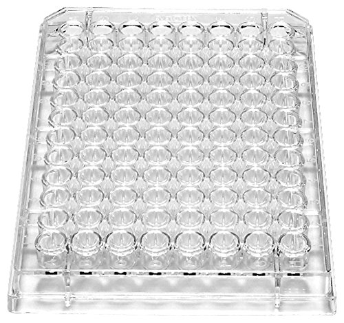 Caplugs Evergreen 222-8052-R1K Sterile 96-Well Microplates with Round (U) Bottoms. Polystyrene, Natural, Box pack (Pack of 100)