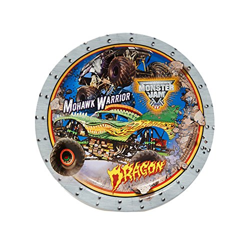 Best Review Of Monster Jam 3D Birthday Party Supplies 16 Pack Dessert Plates