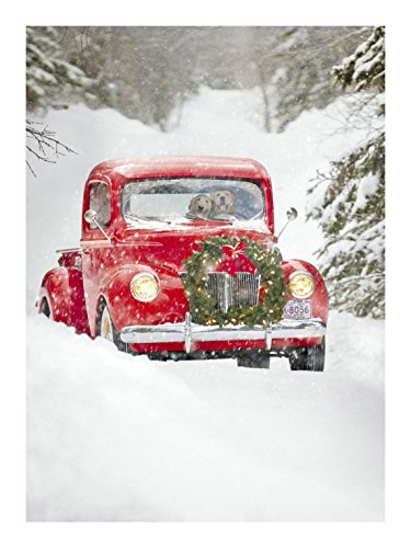 Avanti Press Christmas Cards, Old Fashioned Truck, 20 Count (32561)