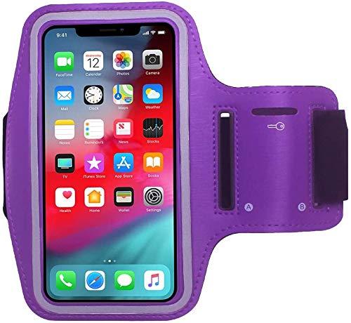 Cbus Wireless Brazalete Deportivo para Footing, Joging, Correr y Entrenar. Compatible con iPhone 12 Mini/12/12 Pro/11 Pro/Xs/X/8/7/6S/6/SE/5S/5C/5/iPod Touch (Morado)