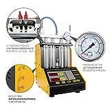 AUTOOL MINI CT-150 Automotive Detergente per iniettori ad ultrasuoni a 4 cilindri e supporto per tester Strumenti di pulizia del carburante per autoveicoli per autoveicoli con adattatori per moto