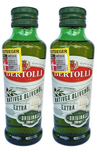 Bertolli Natives Olivenöl Extra Originale, mit Aromen aus grüner Mandeln, Gemüse, Tomate und Artischocke, hochwertiges Olivenöl, 2er Pack (2 x 250 ml)