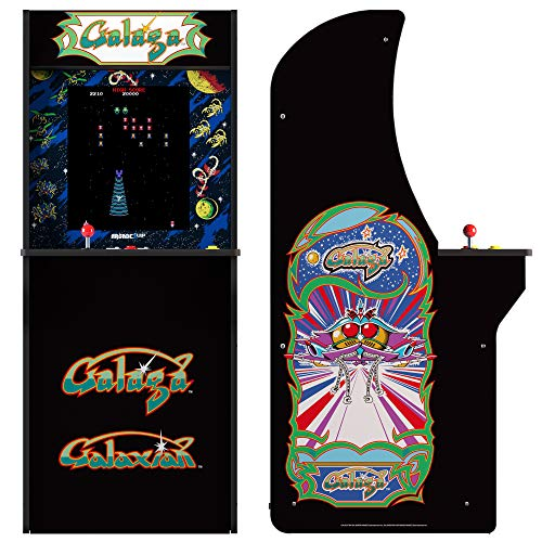 ARCADE1UP Retro Arcade Machine Spielautomat (Galaga, Galaxian, 1.20m hoch, 17 Zoll Full Color High Resolution Display, Sound, original Joystick und Steuertasten)