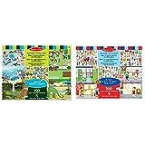 Melissa & Doug 14196 Wiederbenutzbarer Stickerblock-Habitate, Mehrfarben & Wiederbenutzbarer Stickerblock - Meine Stadt (200 Sticker)